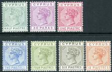 More details for cyprus-1892-94  a lightly mounted mint set to 12pi sg 31-37