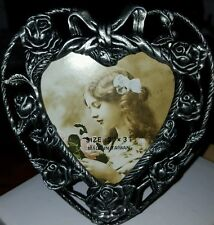 BLAIR SHOPPE HEART SHAPE FRAME WITH ROSES, VALENTINES FRAME