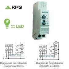 KPS Temporizador Minutero Escalera Electronico 16A 220v Automatico 1 Modulo DIN