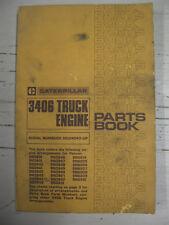 Caterpillar 3406 Truck Engine Original Parts Book Sebp1210 March 1980