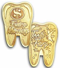 Gold Tooth Fairy Money Coin $