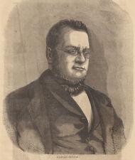Camillo Cavour 1868  xilografia