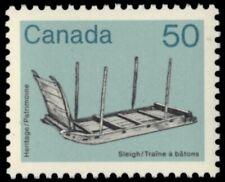 "CANADA 930 - Artifacts ""Wooden Sleigh""  1985 Harrison Paper (pf66705)"