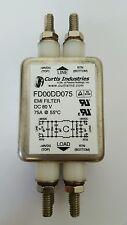 new CURTIS INDUSTRIES FD00DD075 EMI POWER LINE FILTER MODULE 75A DC 80V