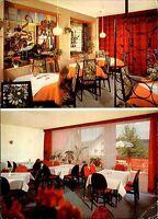 BISCHOFSGRÜN AK Sport Hotel Schneider Café Restaurant gelaufene color Postkarte