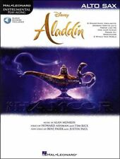 Disney Aladdin Instrumental Play-Along Alto Sax Saxophone Music Book/Audio Film