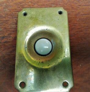 Antique Vintage Mid-Century Retro Industrial Brass & Bakelite Doorbell Button