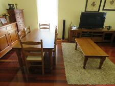 wooden dinning table and coffee table
