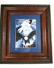 Jody Bergsma You Can Catch The Wind Eagle Double Blue Gold Matted Framed Print
