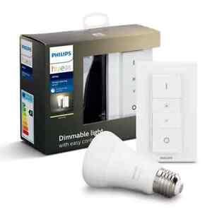 Philips Hue Wireless Dimming Kit E27 Bulb Warm White Light New