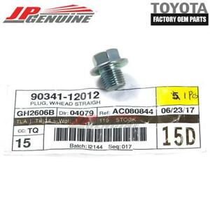 GENUINE TOYOTA LEXUS SCION OEM ENGINE OIL PAN DRAIN PLUG SCREW BOLT 90341-12012