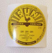 Johnny Cash - Cry Cry Cry - Sun Records 78 RPM Sticker