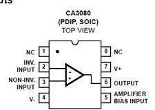 3 x CA3080EZ CA3080 amplificatore operazionale integrato integrated circuit