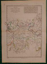 1787 DATED RIGOBERT BONNE MAP ~ AUSTRIA WESTERN PART BAVARIA HAND COLOURED