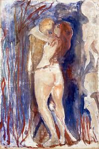 Death and Life by Edvard Munch 60cm x 39.7cm High Quality Art Print