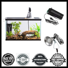 Turtle and Aquatic Reptile Habitat Starter Kit 10-Gallon Tank Light Filter New