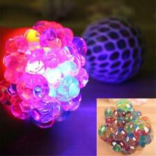 Flash Glowing Anti Stress Reliever Mesh Grape Ball Autism Mood Squeeze Toy