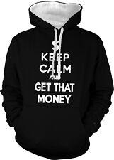 Keep Calm and Get That Money Hustler Pimpin Swag Lyrics 2-tone Hoodie Pullover