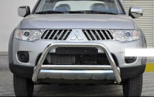 MITSUBISHI L200 CHROME NUDGE BULL A-BAR STAINLESS STEEL 2006-14 W K NO BARBARIAN