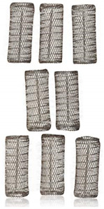 2 Pack TOTAL 8 ROLLERS w/ 8 Pins HAIR STYLING BRUSH ROLLERS & PINS Hair Curlers