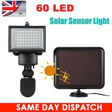 UK Quality Bright 60LED Solar Panel PIR Motion Sensor Security Light Garden Home
