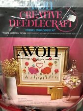 Avon Creative Needlecraft Crewel Emboidery Kit Piglets And Posies Pigs Floral