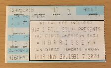 1991 Morrissey San Diego Kill Uncle Concert Ticket How Soon Is Now The Smiths