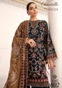 Pakistan Jazmin Baroque Chifffon Organza Unstitched Collection Wedding Party wea