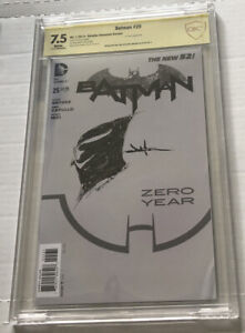 Batman #25 JAE LEE SIGNED & SKETCHED CBCS Variant The New 52 Zero Year Capullo