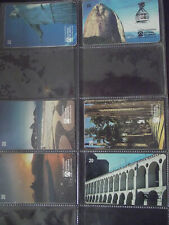 PLACES IN RIO DE JANEIRO 1998 Complete Set 6 Different Phone Cards from Brazil