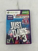 Just Dance 3 (Microsoft Xbox 360) GAME COMPLETE KATY PERRY STEFANI QUEEN MUSIC