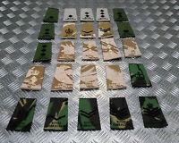 Genuine British Army Royal Gibraltar Regiment Rank Slide Various Colours Ranks