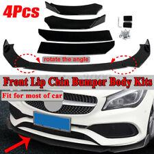 4PCS Gloss Black Front Bumper Lip Body Kit Splitter Spoiler For BMW Universal