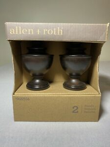 "Allen + Roth Finials Espresso Finish 2 Pack Item No. 0622936 - Fits 1-3/8"" Rods"