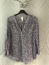 H & M TOP SIZE SMALL (8/10) BLUE MIX