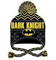 DC Comics Batman Dark Knight Embroidered Knit Laplander Beanie Hat