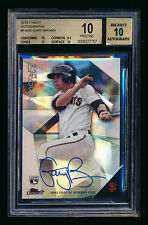 2015 TOPPS FINEST GARY BROWN RC REFRACTOR AUTO AUTOGRAPH GIANTS BGS 10 PRISTINE!