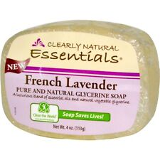 Lavender Clearly Natural, Essentials, Pure and Natural Glycerine Soap 113g