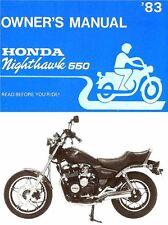 1983 Honda CB550 Nighthawk 550 Moto Propietarios Manual -cb 550-CB550
