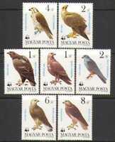 Hungary 1983 WWF/Birds/Eagles/Raptors 7v set (n25638)