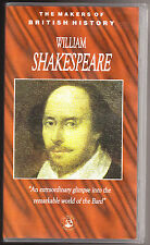 WILLIAM SHAKESPEARE - THE MAKERS OF BRITISH HISTORY - VHS PAL (UK) VIDEO - RARE