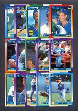 1990 Topps Kansas City Royals TEAM SET (33) w/ Traded