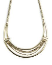 Resort Plate Necklace by JewelMint.  New.  Snake, Rolo, and Curb chains.