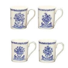 Blue in Bloom Set 4 Mugs Flowers Vase Birds Blue Ware Cw874 Andrea by Sadek Nib