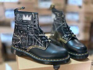 "NIB Dr. Martens x Basquiat 1460 Boot - Black LEATHER ""BEAT BOP"" 26319009"