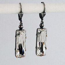 Grevenkämper Ohrringe Swarovski Kristall Rechteck Baguette weiß klar Crystal