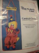 """Doll Makers Club """"Carnival Clown"""" Sewing/Embroidery Kit Size 16"""""""