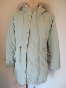 GEORGE MATERNITY & BEYOND PALE GREEN QUILTED PARKA JACKET COAT SIZE 12-14