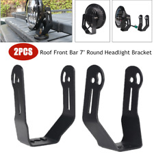 """2PCS Car 7"""" Round Headlight LED Work Light Clamp Holder Roof Front Bar Mounting"""