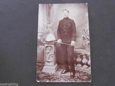 Indian Army Soldier in Uniform Portrait Postcard Lucknow 1910